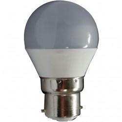 AMPOULE LED MINI SPHERIQUE OPAQUE B22 5 Watts (UNITE)