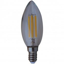 AMPOULE LED FILAMENT FLAMME CLAIR E14 - 4W (UNITE)