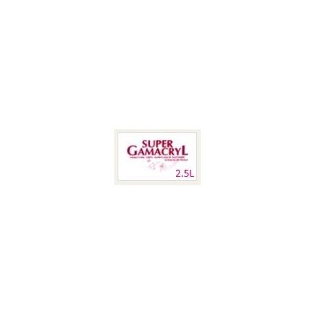 SUPER GAMACRYL : PEINTURE 100% ACRYLIQUE SATIN BLANC (UNITE)