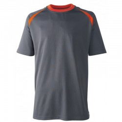 T-SHIRT 100% POLYESTER-COOLDRY-TRICOT BIRD-EYE 150g/m²
