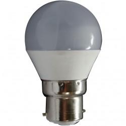 AMPOULE LED MINI SPHERIQUE OPAQUE B22 5 Watts (UNITE)