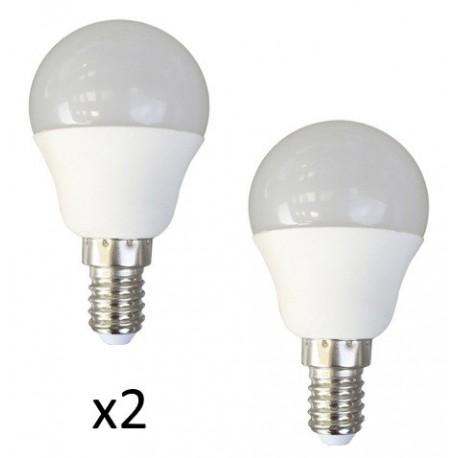 ampoule led mini spherique opaque e14 4 watts x2. Black Bedroom Furniture Sets. Home Design Ideas