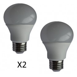AMPOULE LED STANDARD A60 E27 9 Watts (X2)