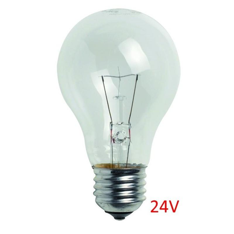 ampoule verre e27 24v 60w unite. Black Bedroom Furniture Sets. Home Design Ideas