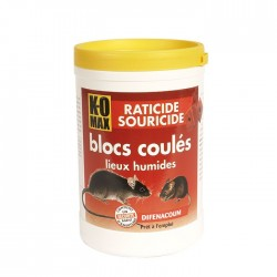 RATICIDE SOURICIDE BLOCS APPAT COULES 240G (UNITE)