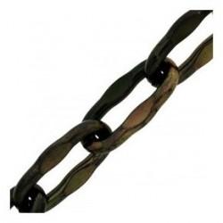 Chaine fil carré torsadé Noir (au mètre)