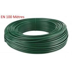 Fil de tension galvanisé plastifié vert 100M (unité)