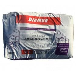 CIMENT DIAMUR CEM II /B-M (S-V-L) 32.5R 25KG (UNITE)
