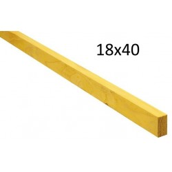 LITEAU TRAITE SAPIN 18 / 40 CLASSE 2 (4 Mètres )