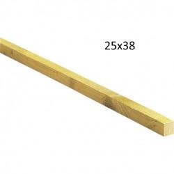 LITEAU TRAITE SAPIN 25 / 38 CLASSE 2 (4 Mètres )