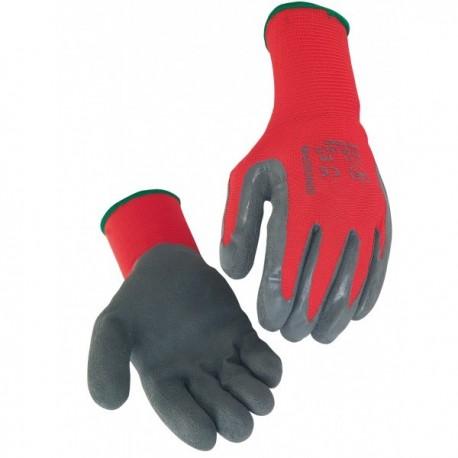 Gant latex. Support polyamide sans couture. Dos aéré. Jauge 15 (PAIRE)
