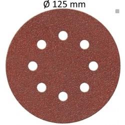 Disque auto-agrippant Ø 125 mm 8 trous (unité)