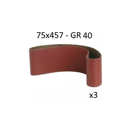 bande pour ponceuse 75x457 mm en blister. Black Bedroom Furniture Sets. Home Design Ideas